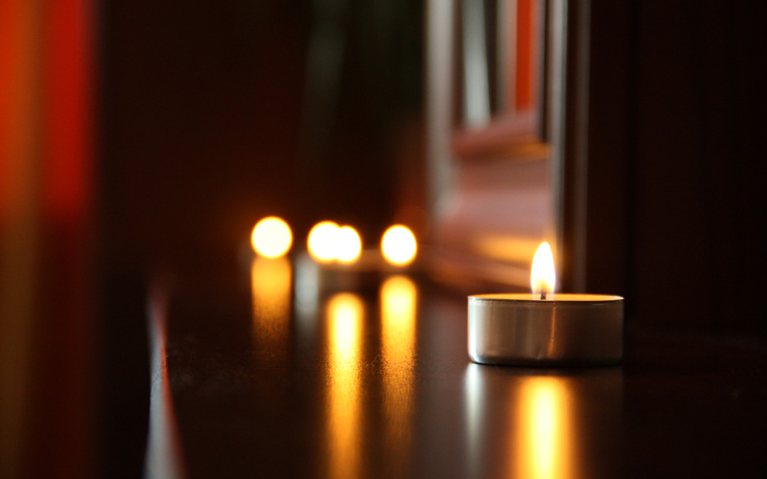 Candles of gratitude.