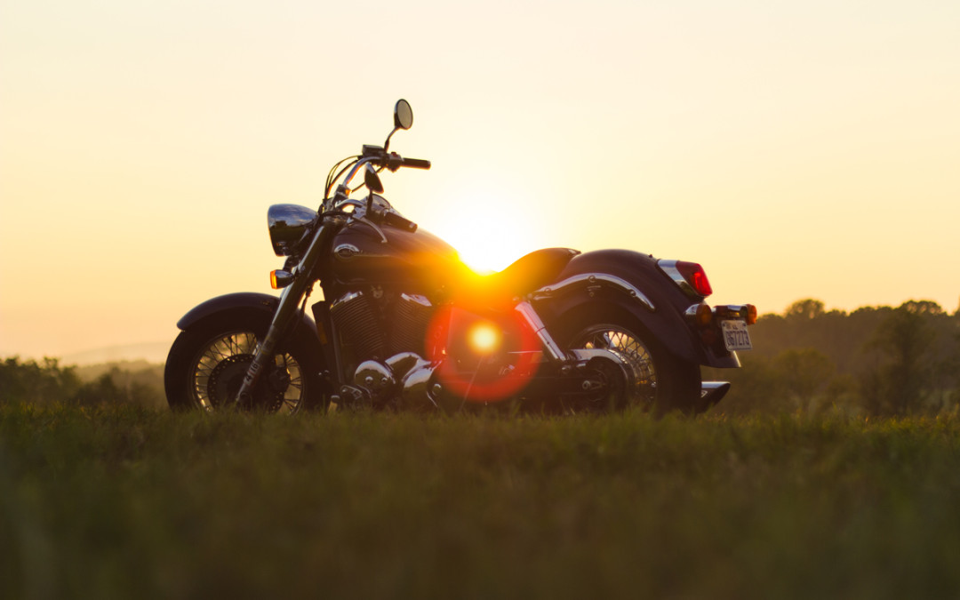 Sunset motorcycle.